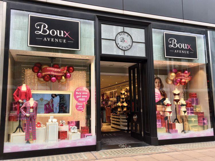 Retail window graphics for Boux Avenue's London store